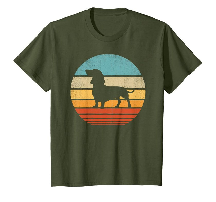 dachshund vintage silhouette 60s 70s retro gifts dog lover t shirt 1 - Classic Shop