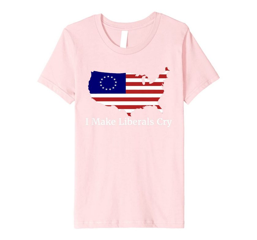Make Liberals Cry Not Offended 1776 Betsy Ross Flag Premium T-shirt