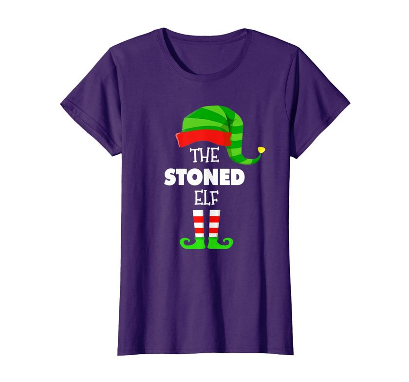 The Stoned Elf Group Matching Family Christmas Pjs T-shirt